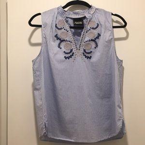Nanette striped tank blouse size L